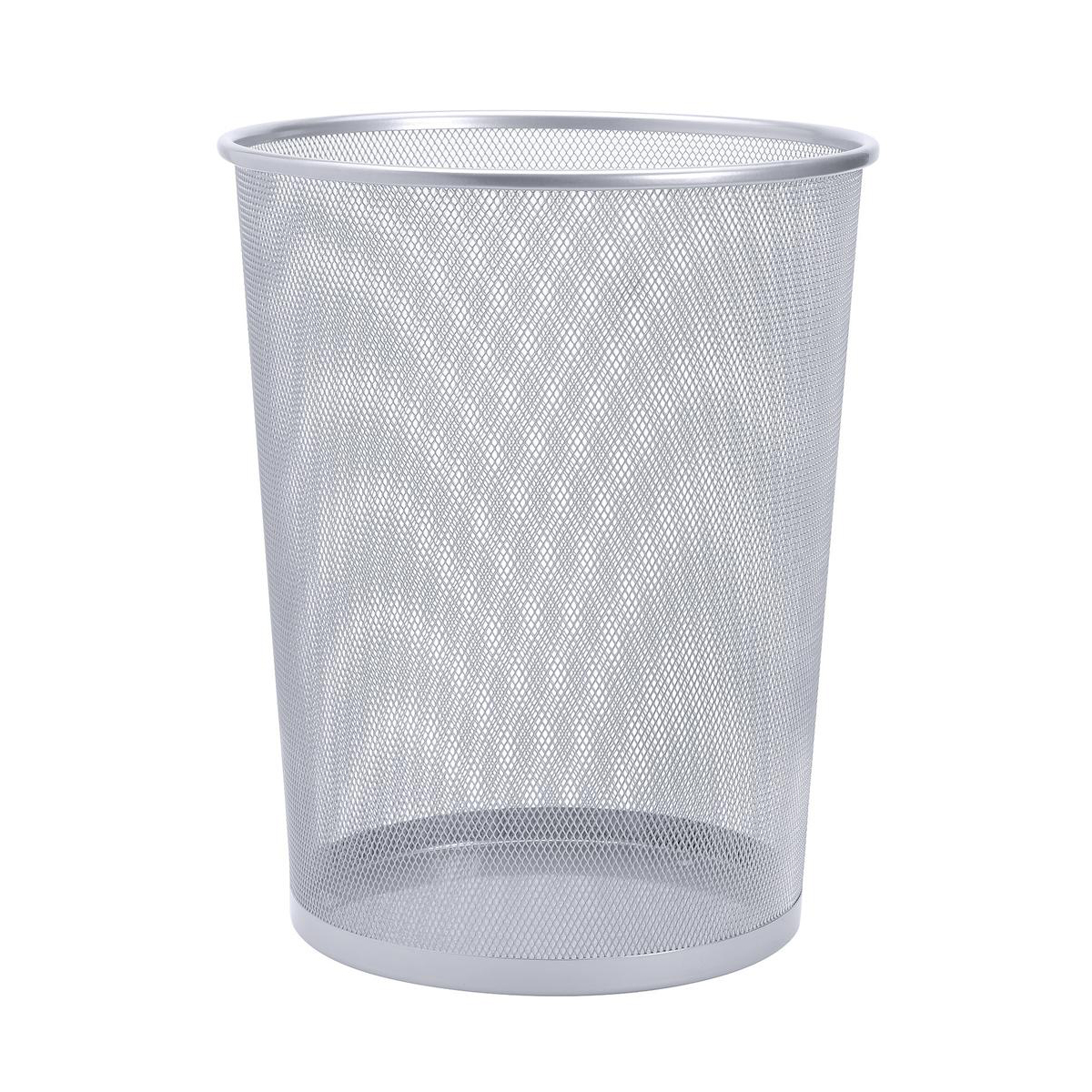 Rubbish Bins 5 Star Office Mesh Waste Bin Lightweight Sturdy Scratch Resistant 15-20 Litres DxH 305x345mm Silver