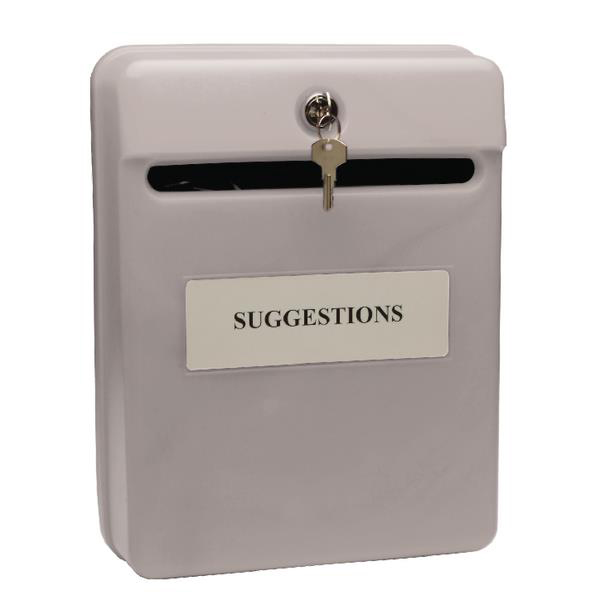 Image for Post or Suggestion Box Wall Mountable with Fixings 240x113x325mm Grey