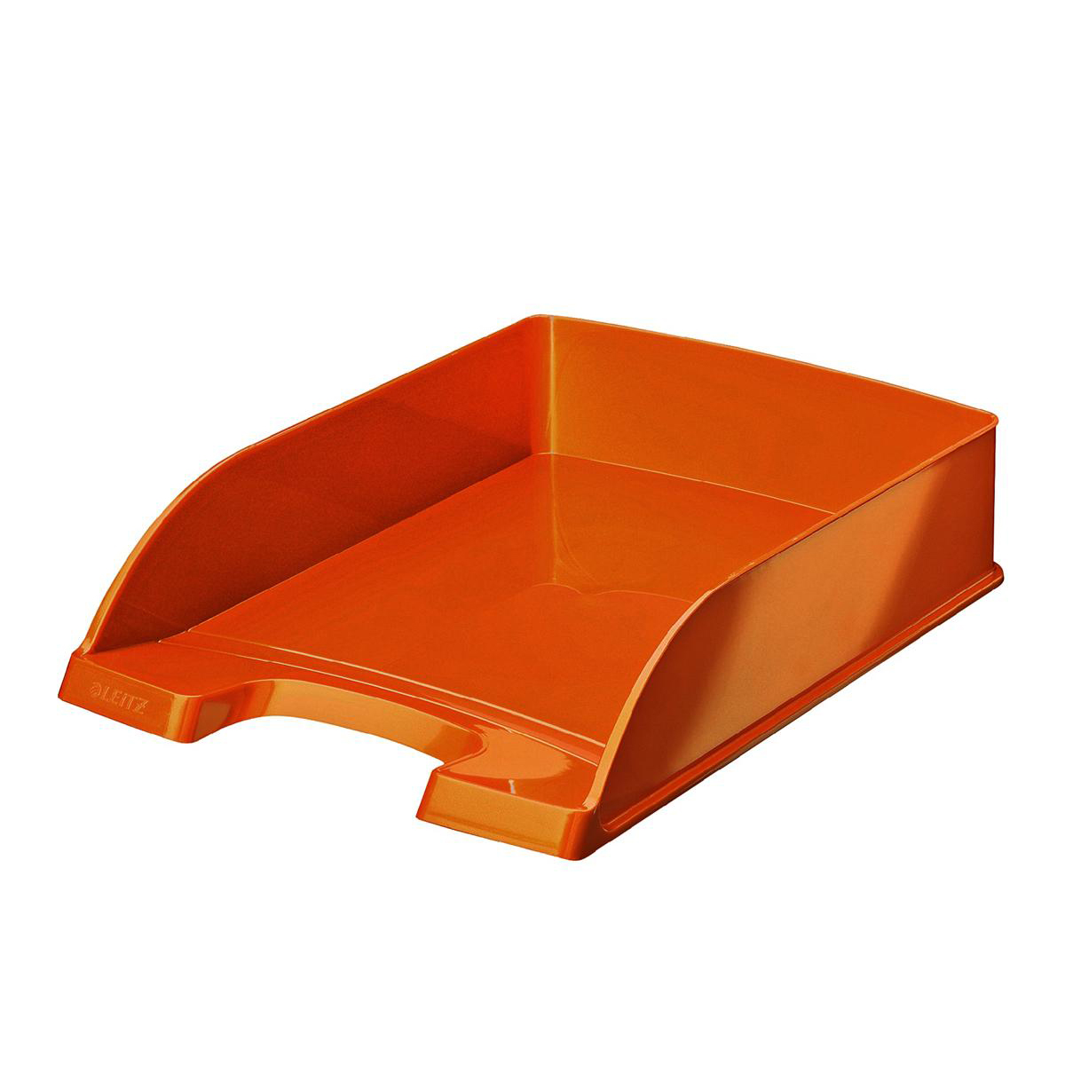 Leitz WOW Letter Tray Stackable Glossy Metallic Orange Ref 52263044