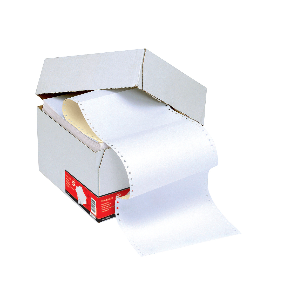 Listing Paper 5 Star Office Listing Paper 2-Part Carbonless Micro-perforated 80/55gsm A4 White/Yellow 1000 Sheets