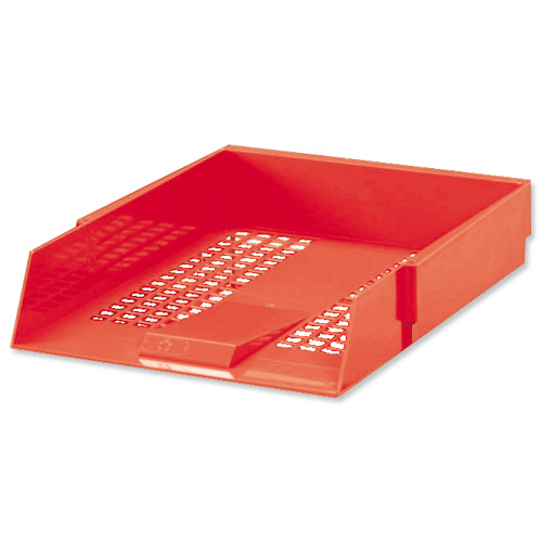 Letter Trays 5 Star Office Letter Tray High-impact Polystyrene Foolscap Red