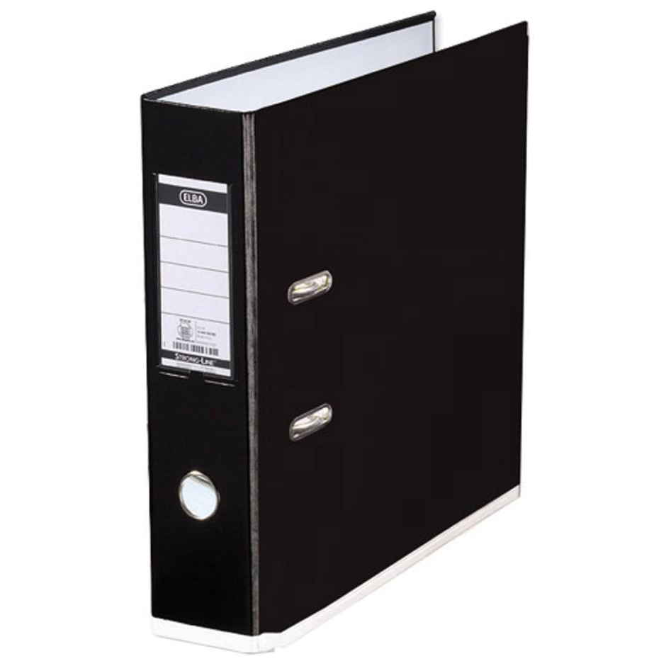 Elba MyColour Lever Arch File Polypropylene Capacity 80mm A4+ Black and White Ref 100081033