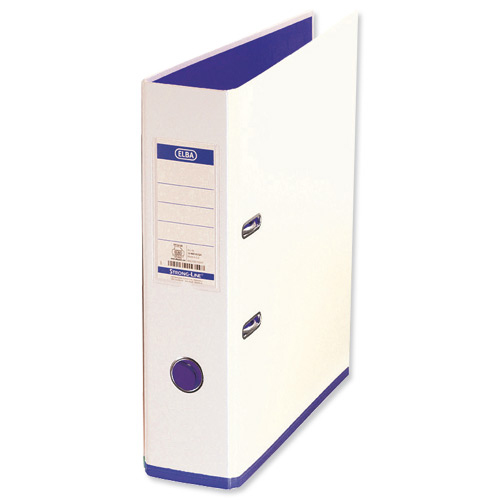 Oxford MyColour Lever Arch File Polypropylene Capacity 80mm A4Plus White & Purple Ref 100081030