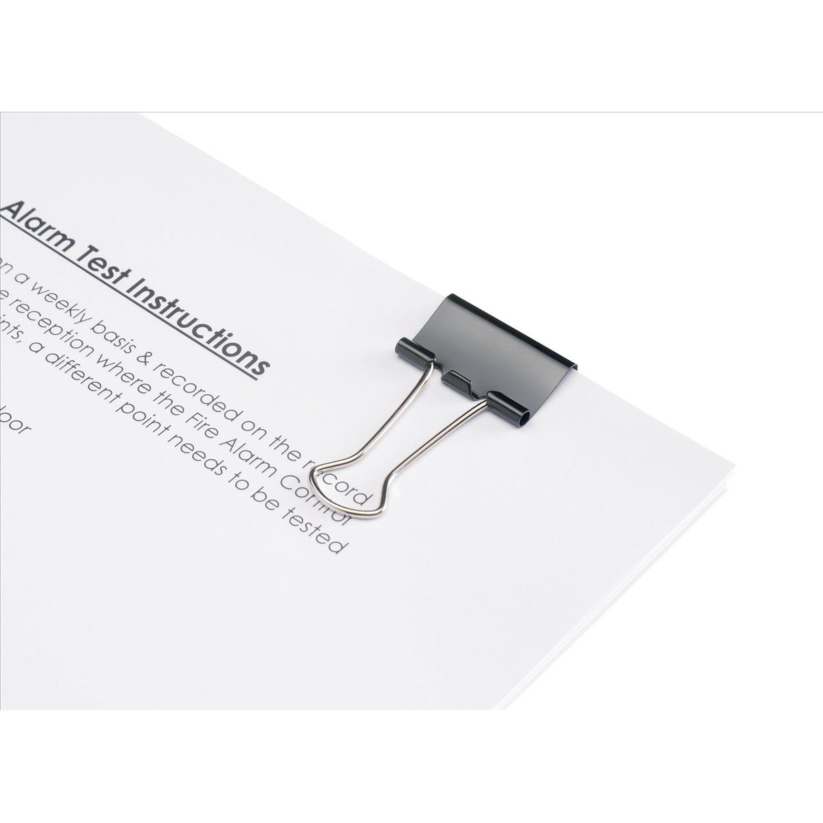 5 Star Office Foldback Clips 25mm Black [Pack 12]