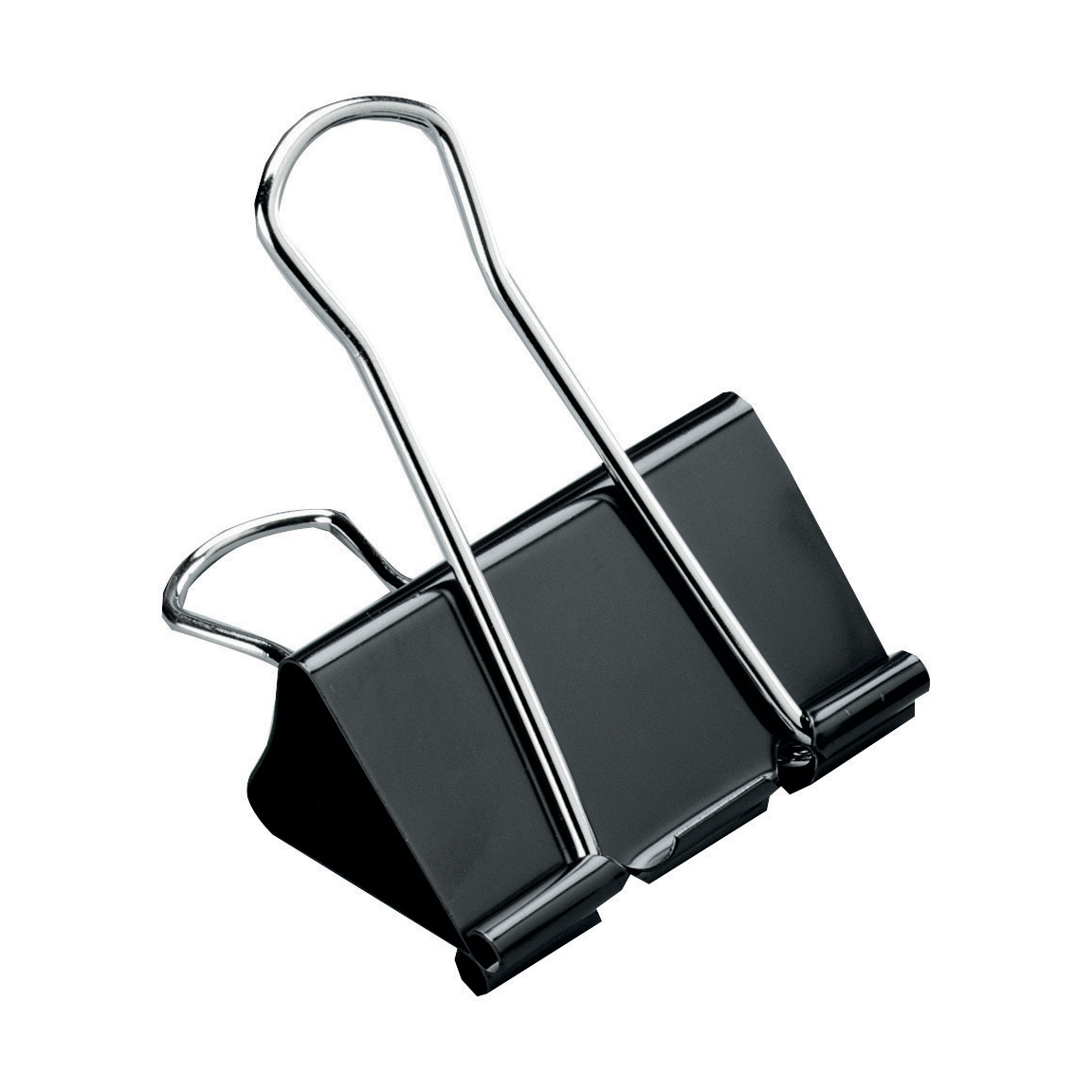 5 Star Office Foldback Clips 51mm Black Pack 12