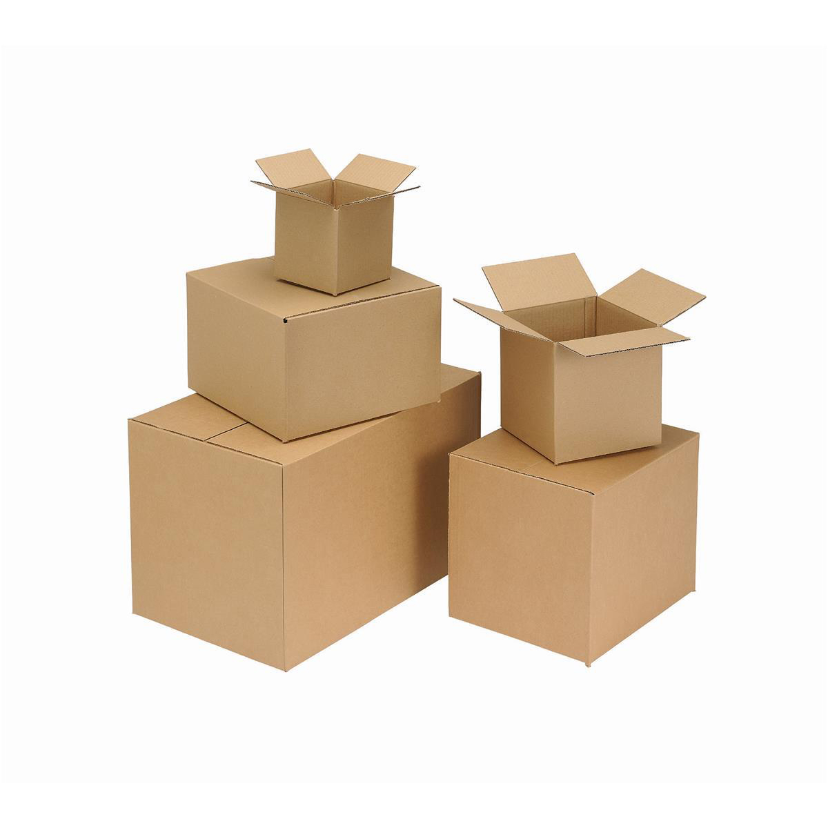 Packing Carton Single Wall Strong Flat Packed 203x203x203mm Brown Pack 25