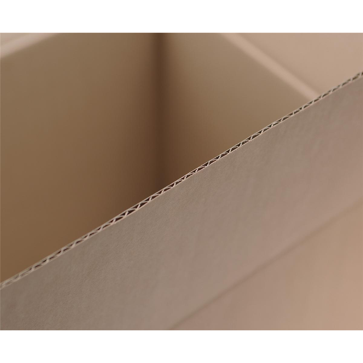 Packing Carton Single Wall Strong Flat Packed 203x203x203mm Brown [Pack 25]