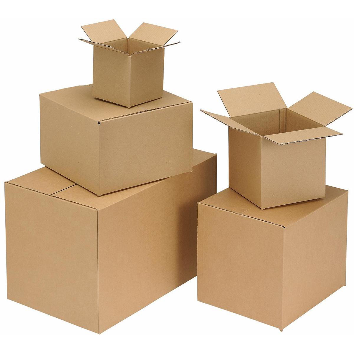 Packaging boxes Packing Carton Single Wall Strong Flat Packed 330x254x178mm Brown Pack 25