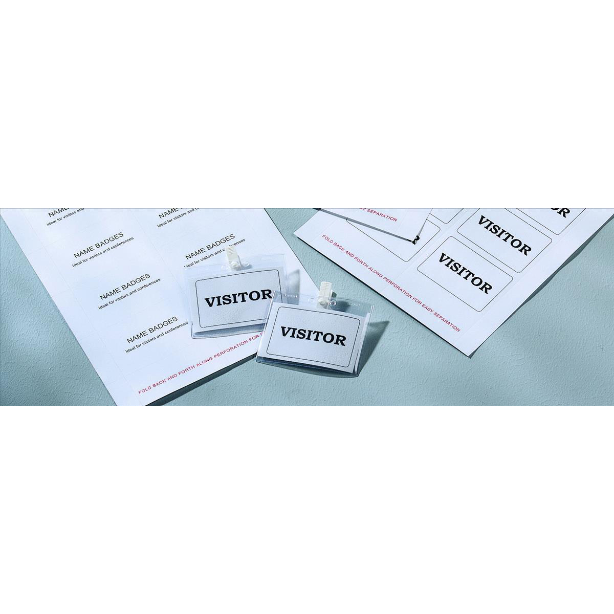 Avery Name Badges Laser-printable Refill Kit 8 per Card W86.5xH55.5mm Ref L7418-25UK [25 Sheets]