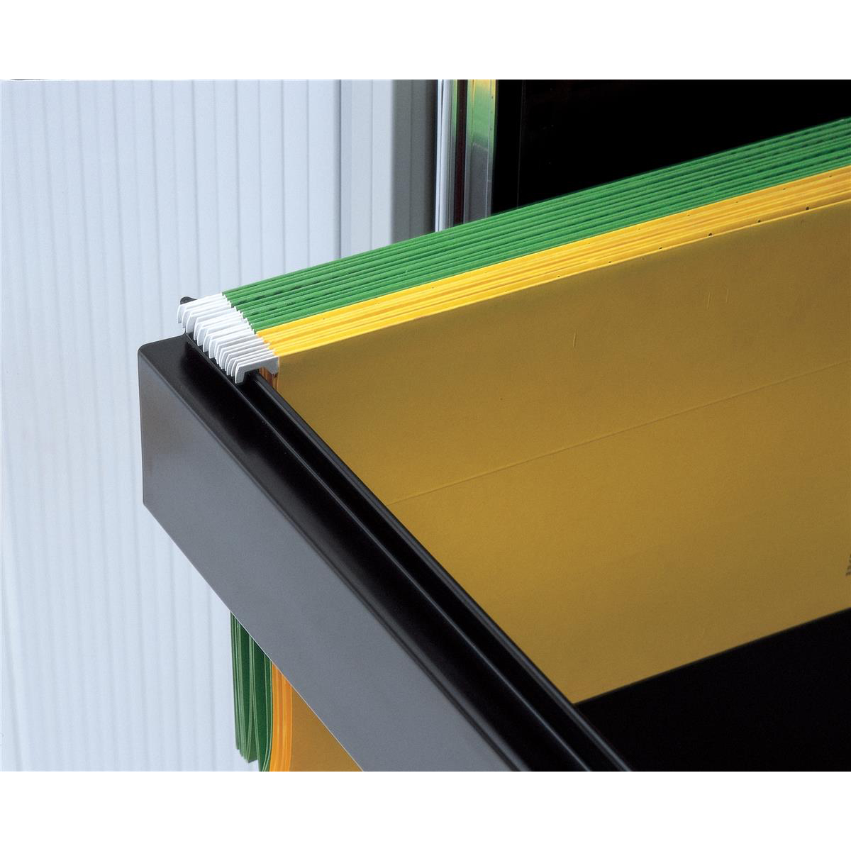 Bisley Lateral Filing Rail Black Ref BUR