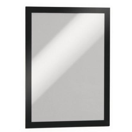 Durable Duraframe A4 Self Adhesive with Magnetic Frame Black Ref 487201 Pack 2