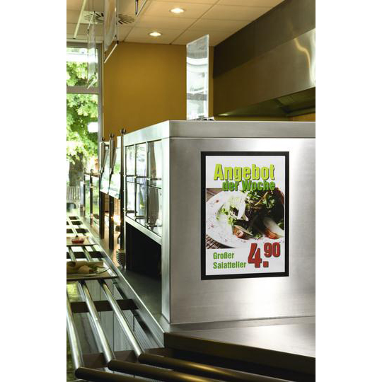 Durable Duraframe A3 Self Adhesive with Magnetic Frame Black Ref 487301 Pack 2
