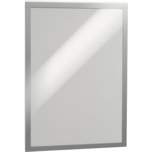 Durable Duraframe A3 Self Adhesive with Magnetic Frame Silver Ref 487323 Pack 2