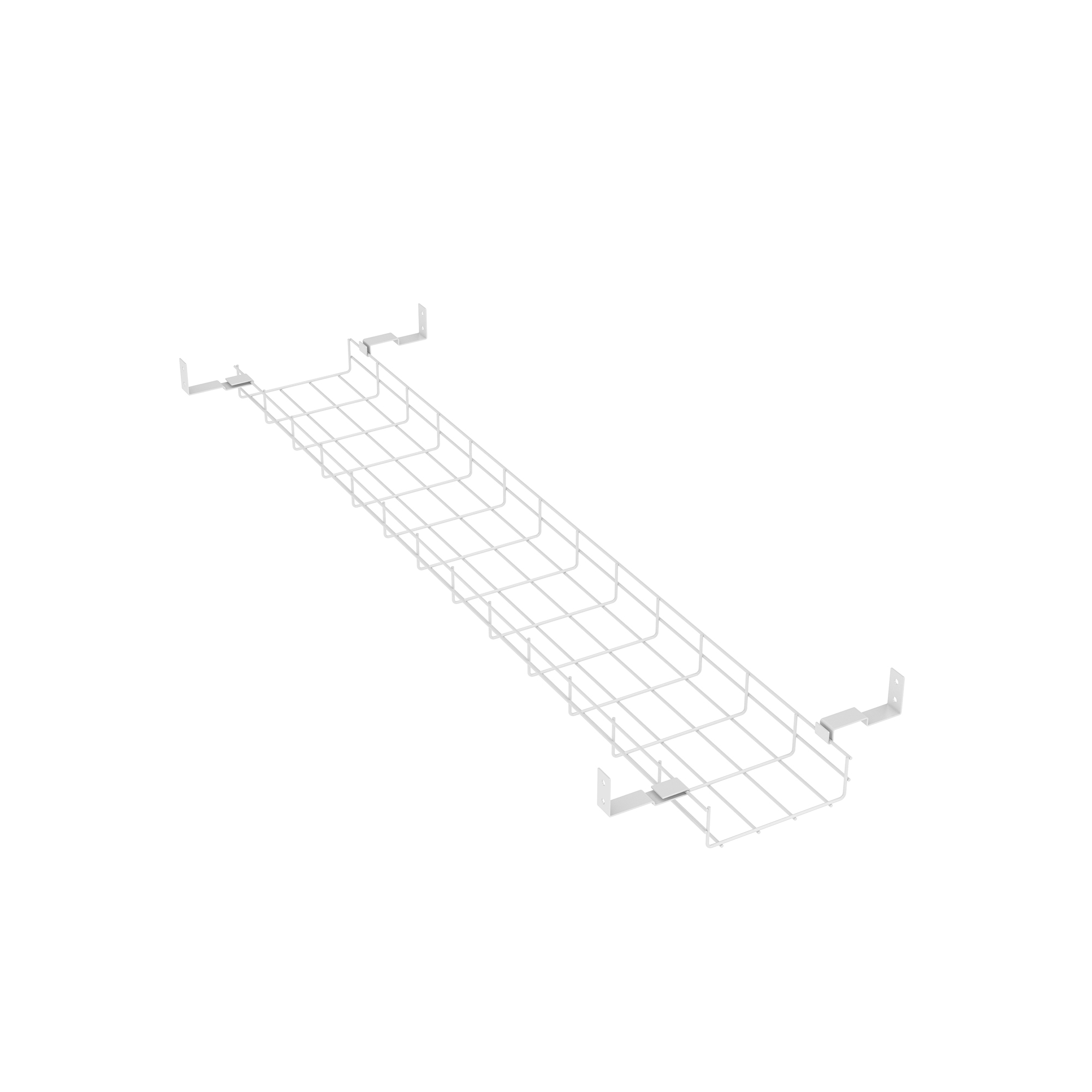 CPU stand Trexus Cable Basket 1400mm Width White Ref BE039