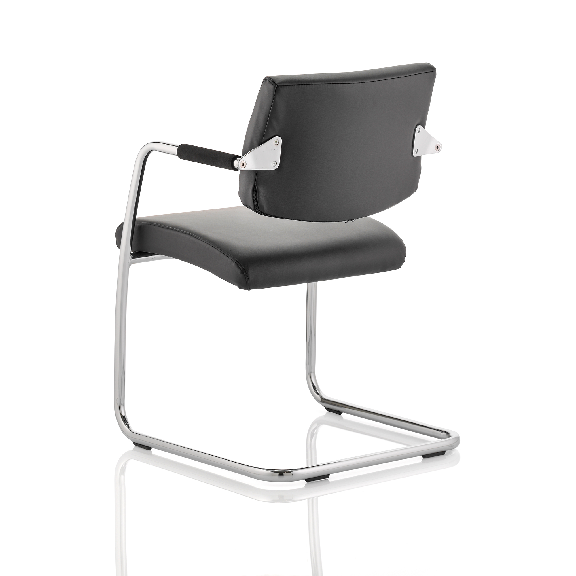 Trexus Havanna Visitor Chair Leather With Arms Black Ref BR000050