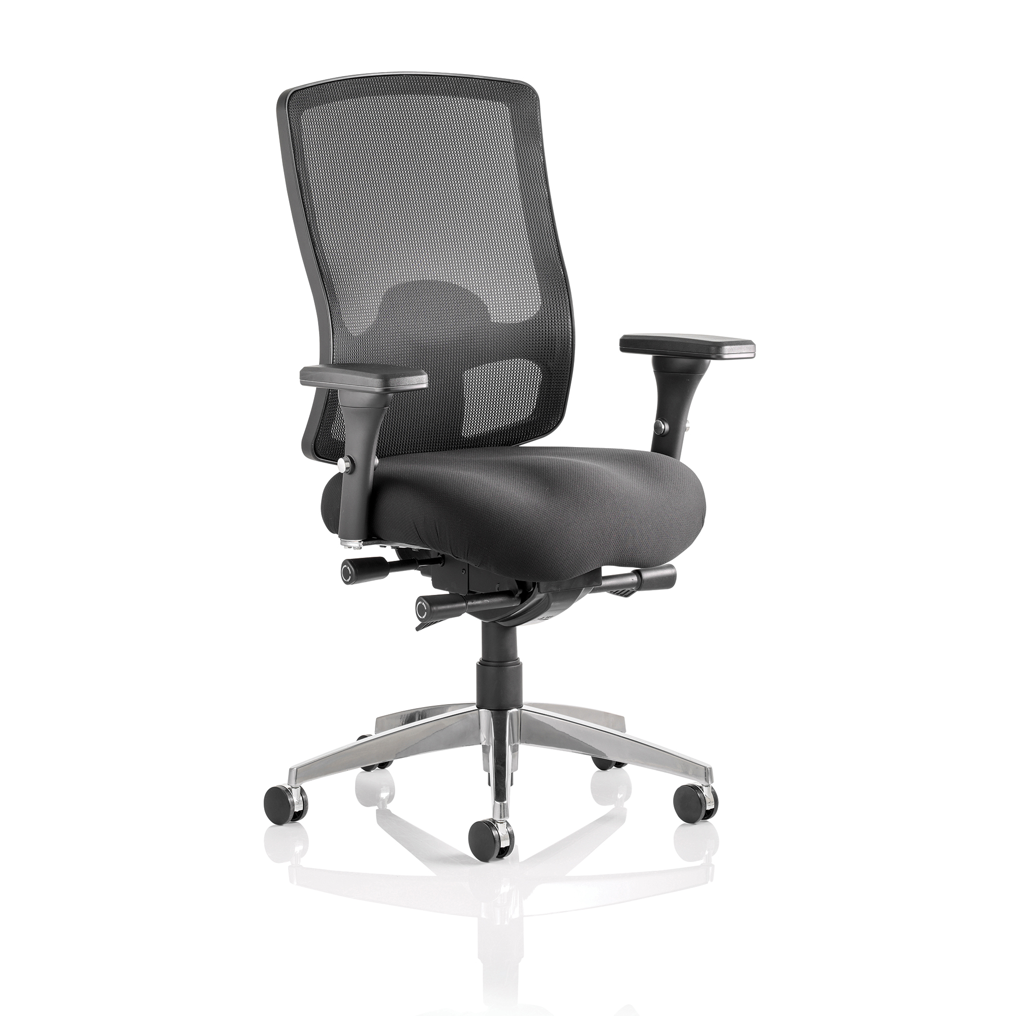 Sonix Regent Task Operator Chair With Arms Fabric Mesh Back Black Ref OP000113