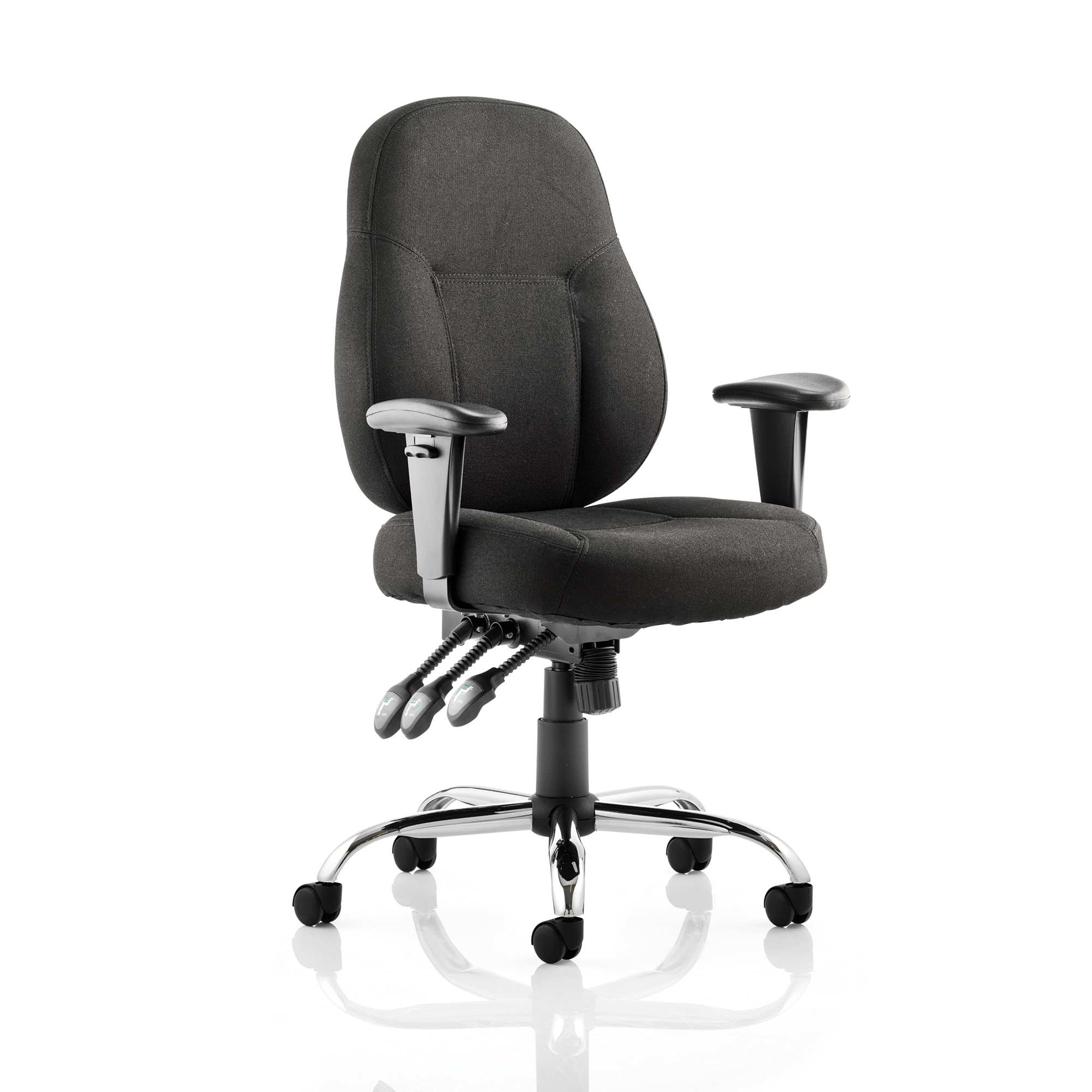 Trexus Storm Task Operator Chair With Arms Fabric Black Ref OP000127