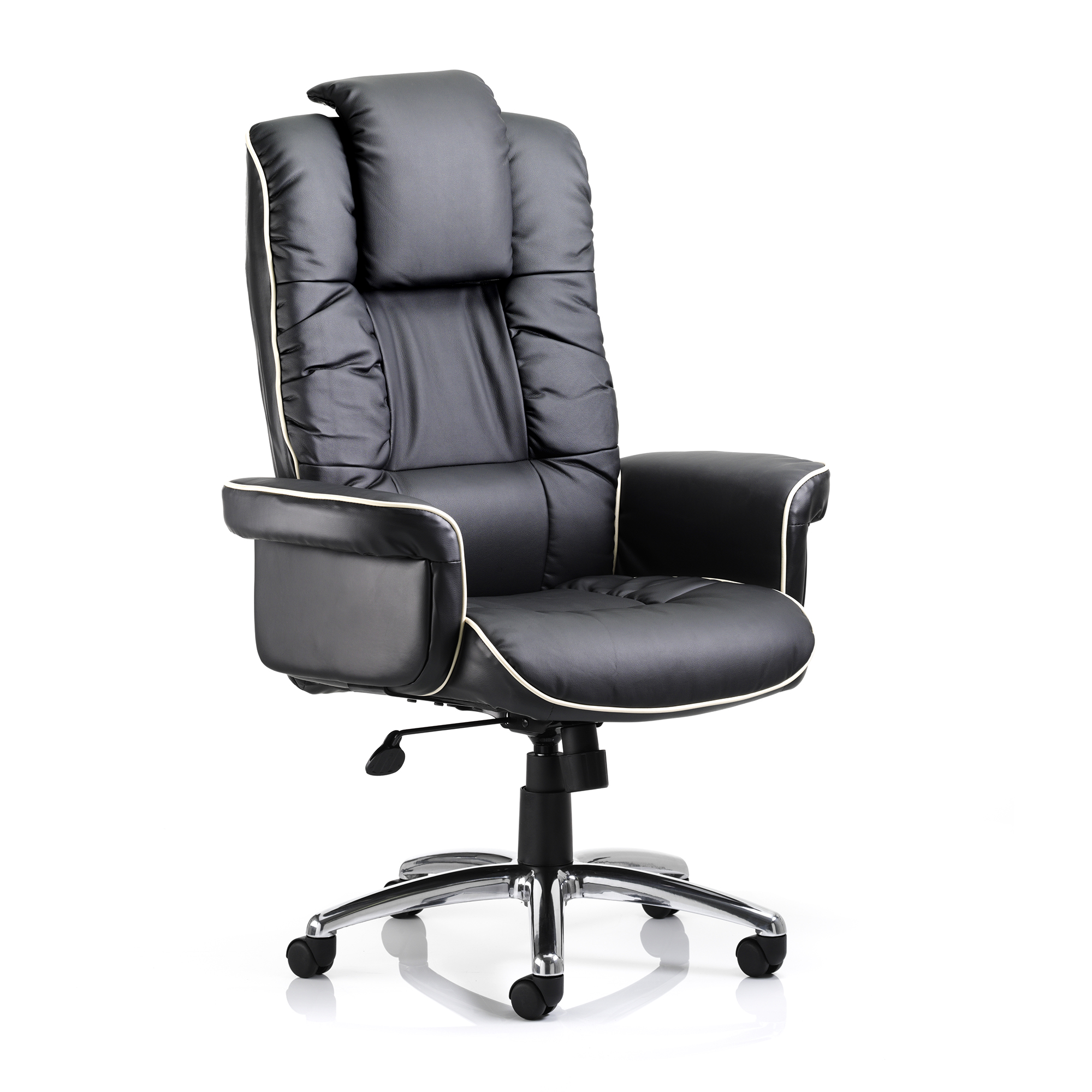 Executive seating Trexus Chelsea Executive Chair With Arms Bonded Leather Black Ref EX000001