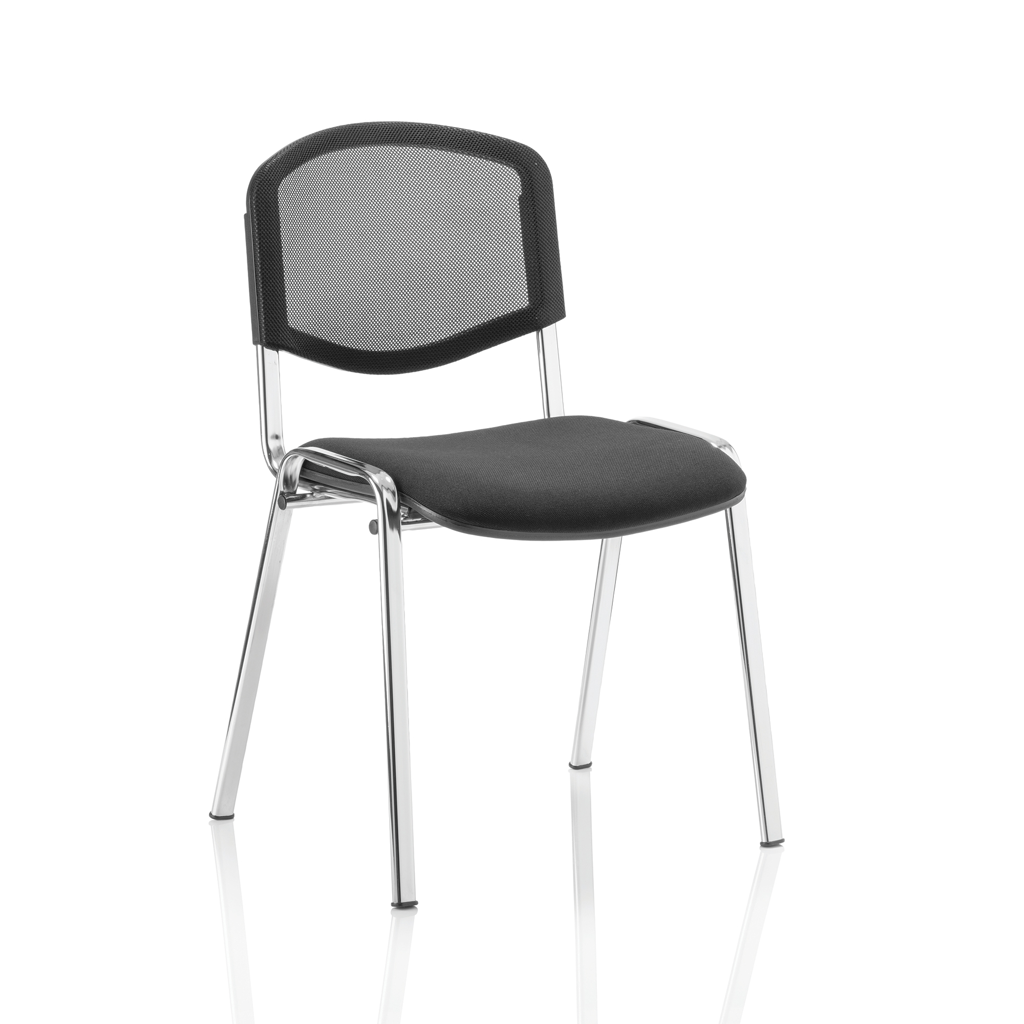 Auditorium or stadium or special use seating Trexus ISO Stacking Chair Without Arms Black Mesh Chrome Frame Ref BR000073