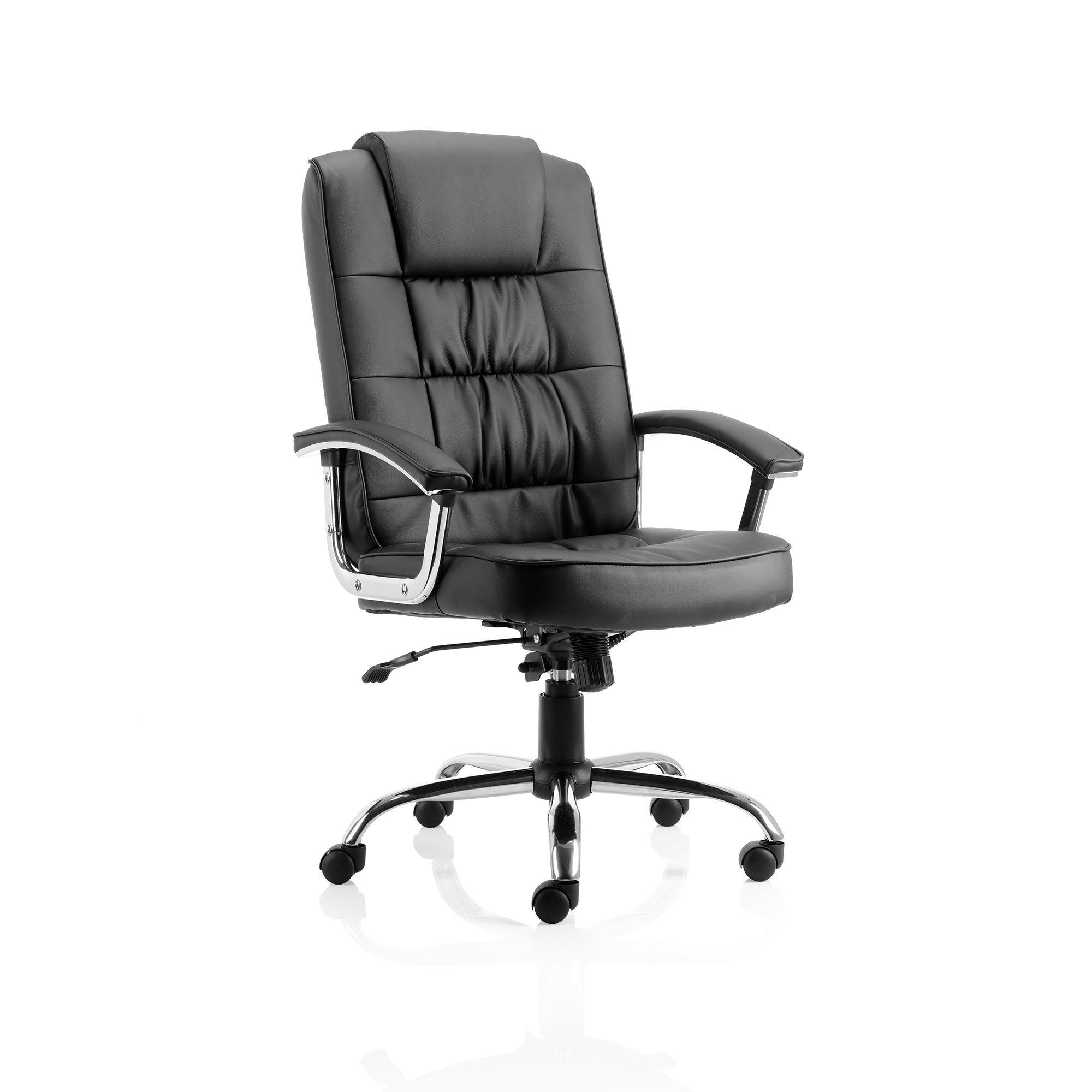Executive seating Trexus Moore Deluxe Executive Chair With Arms Leather Black Ref EX000045