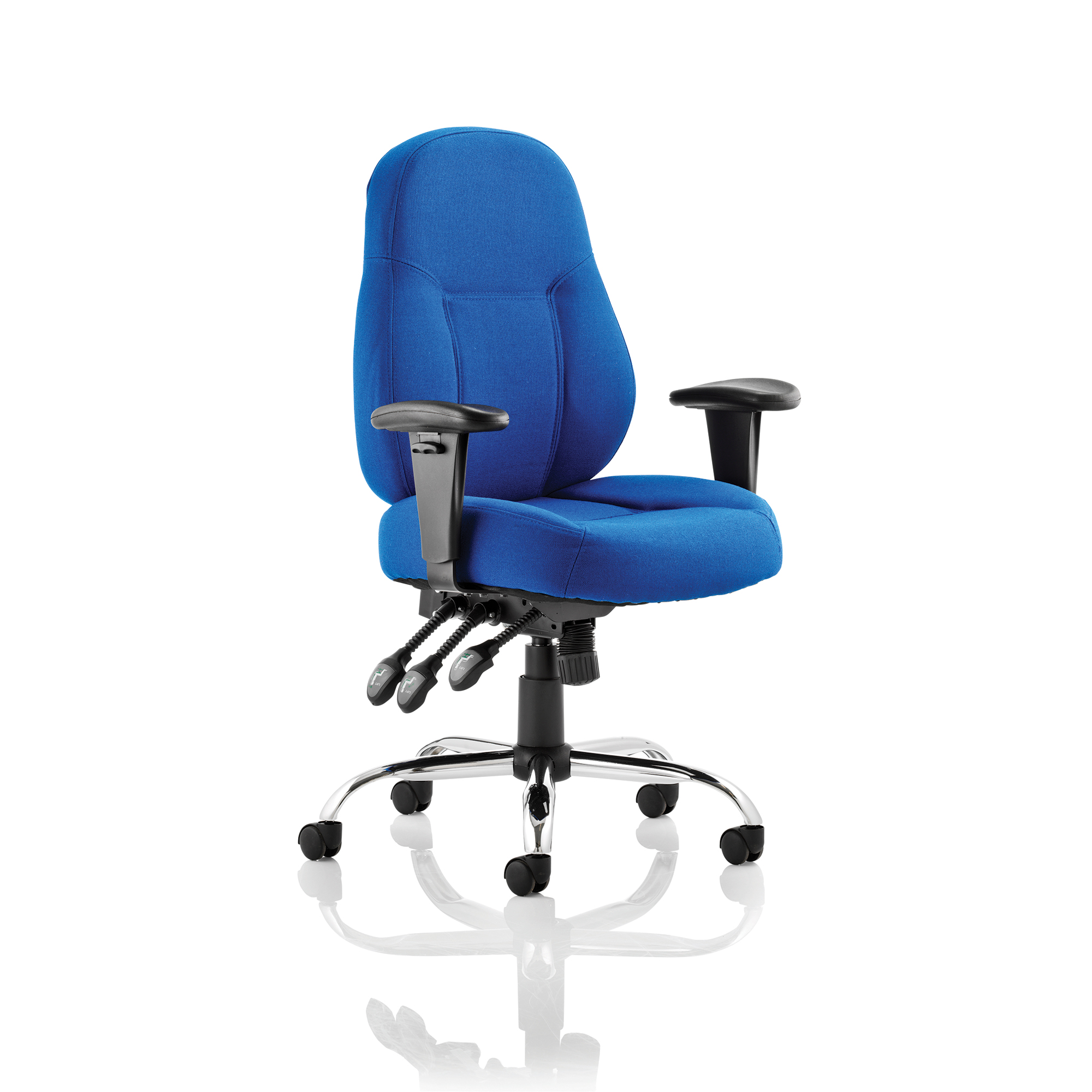 Guest seating Trexus Storm Task Operator Chair With Arms Fabric Blue Ref OP000128