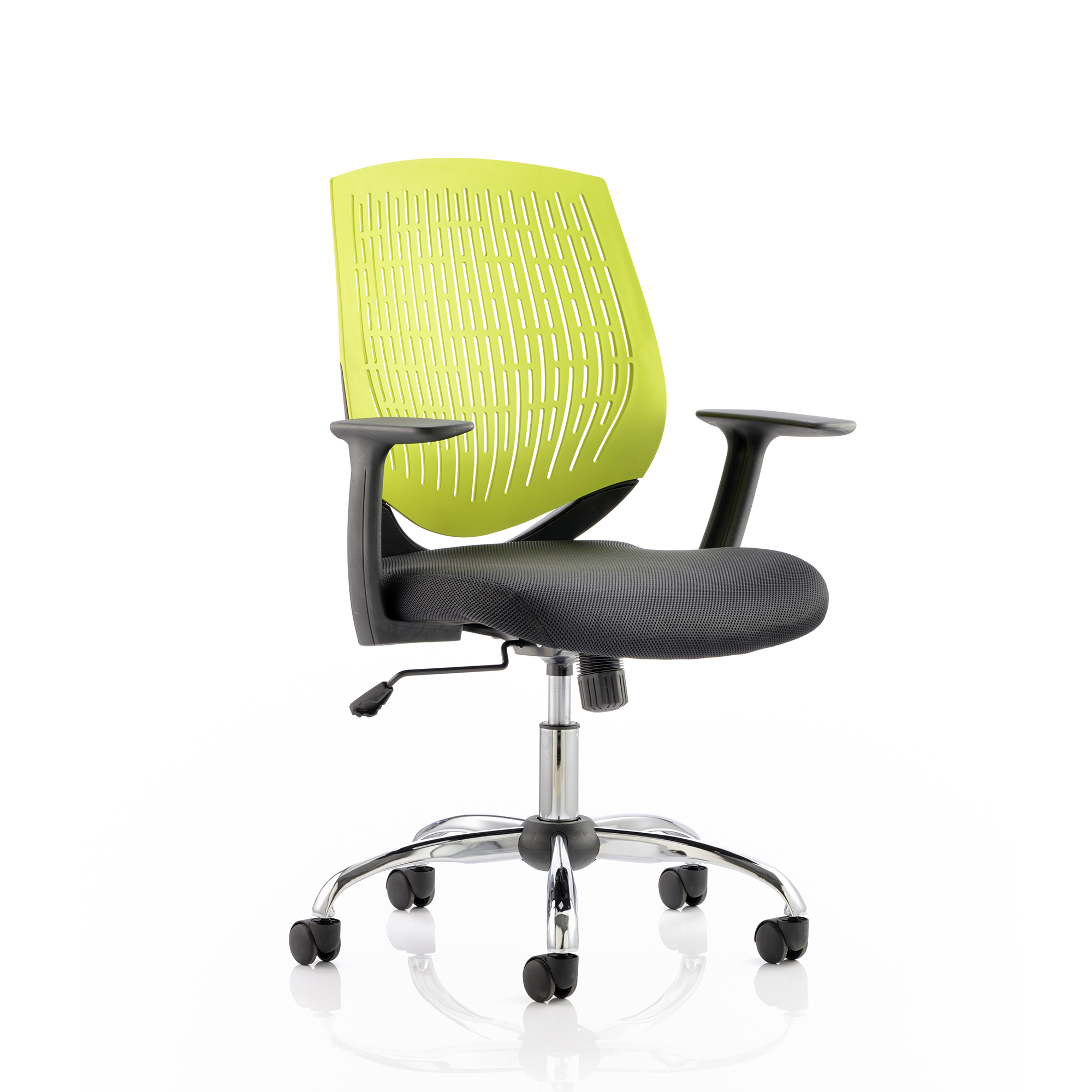 Guest seating Trexus Dura Task Operator Chair With Arms Green Ref OP000016