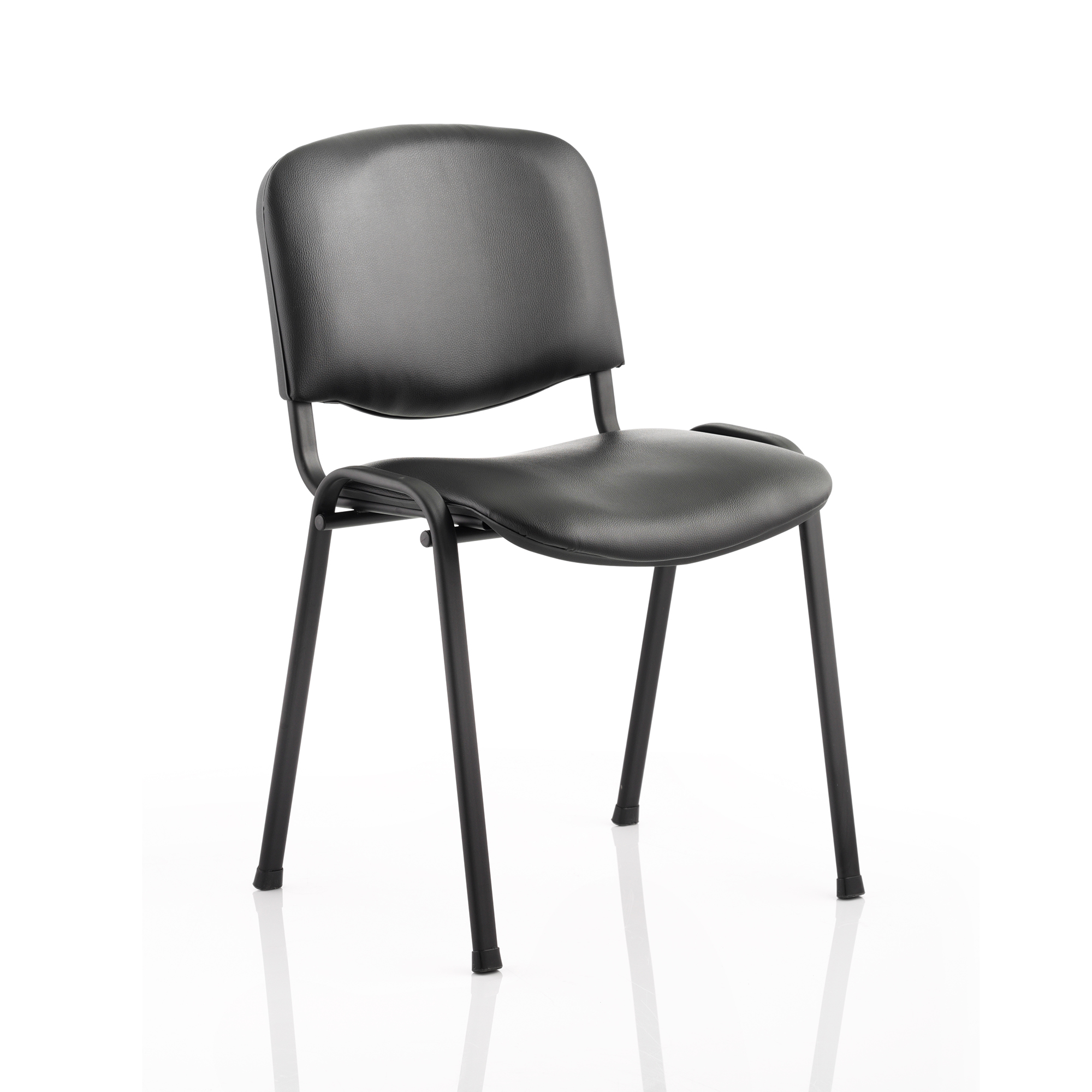 Auditorium or stadium or special use seating Trexus ISO Stacking Chair Without Arms Black Vinyl Black Frame Ref BR000062