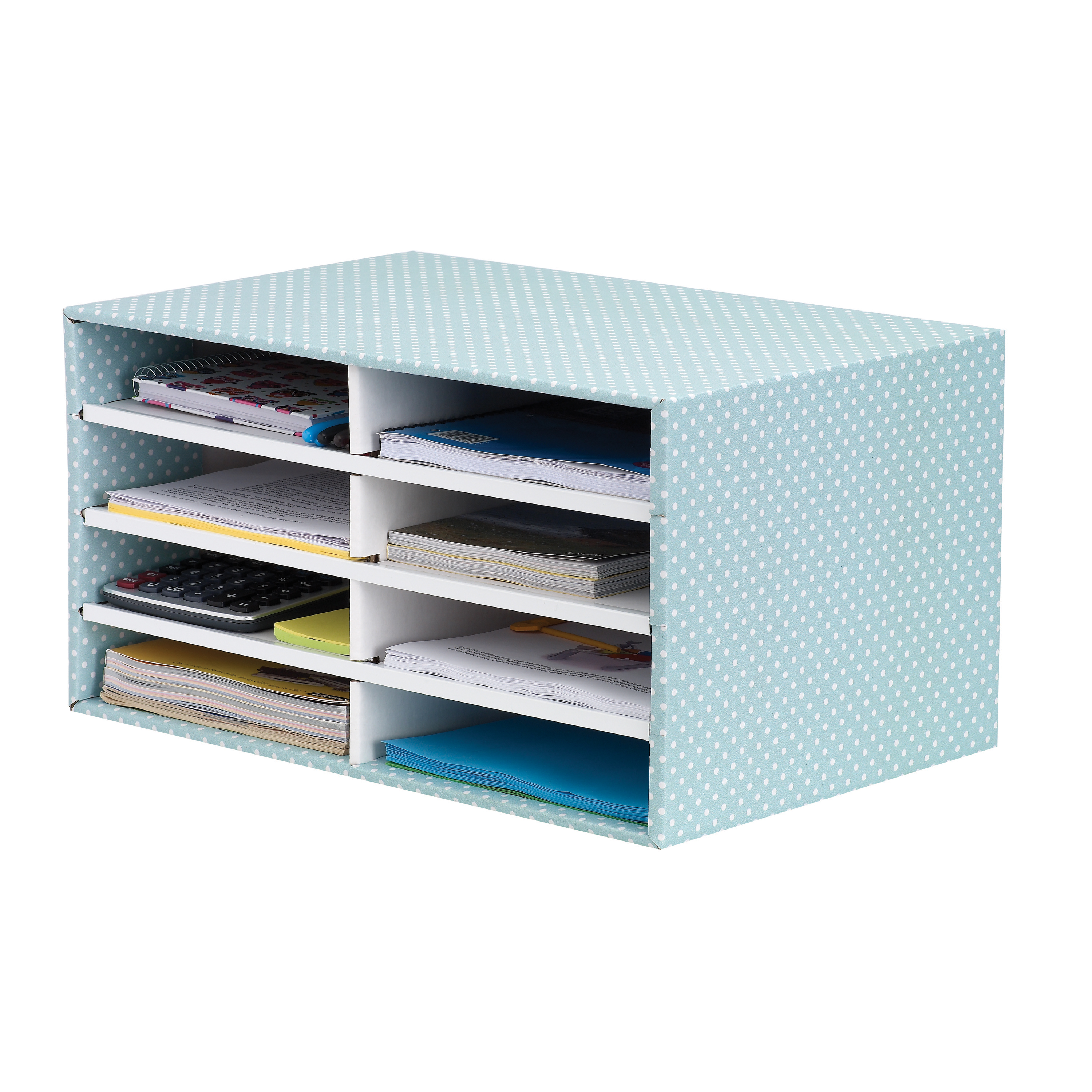 Bankers Box by Fellowes Desktop Sorter Stackable Fastfold Recycled FSC A4 Green/White Ref 4482601