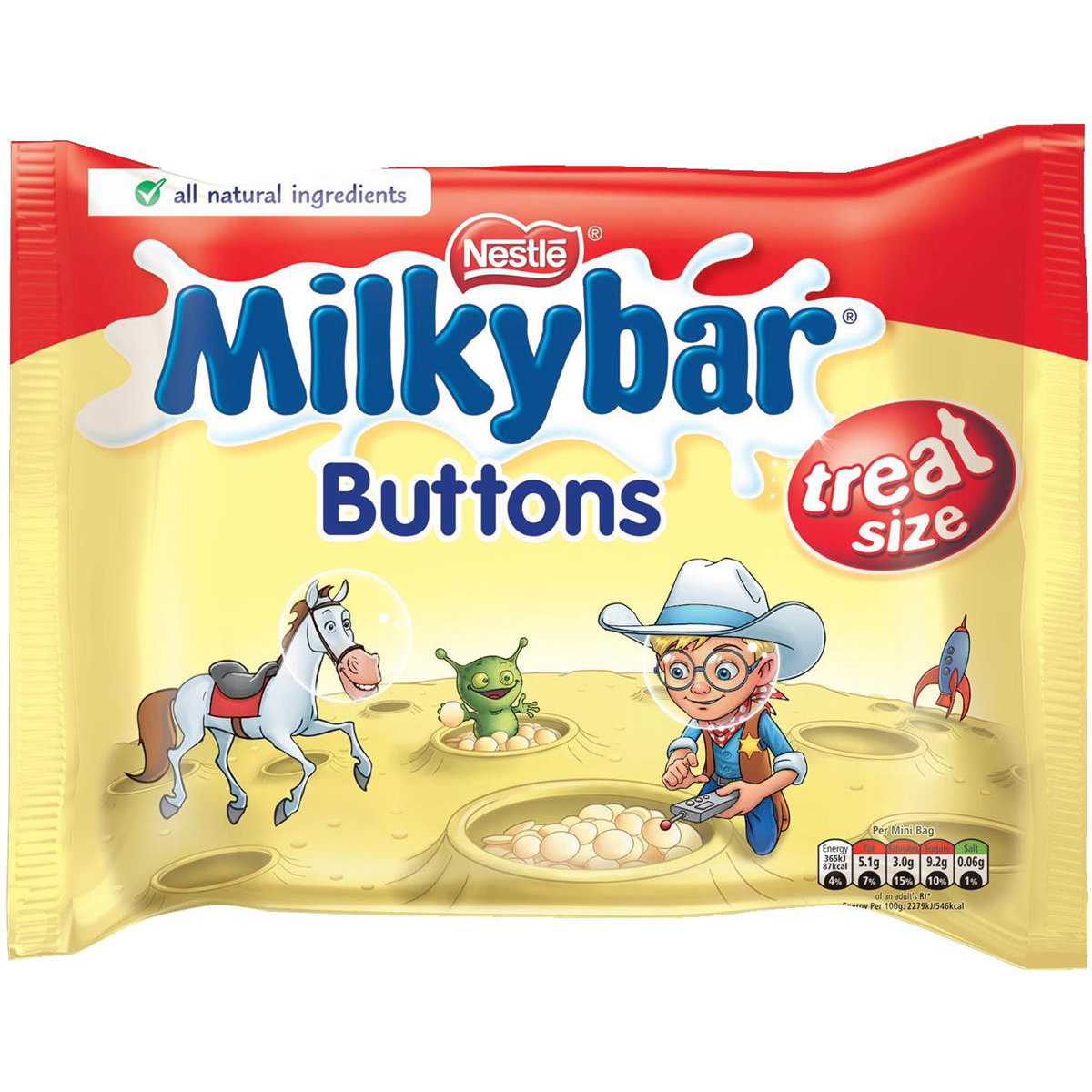 Milky Bar Buttons White Chocolate Mini Bags 189g (Approx 12 Mini Bags) Ref 12132820