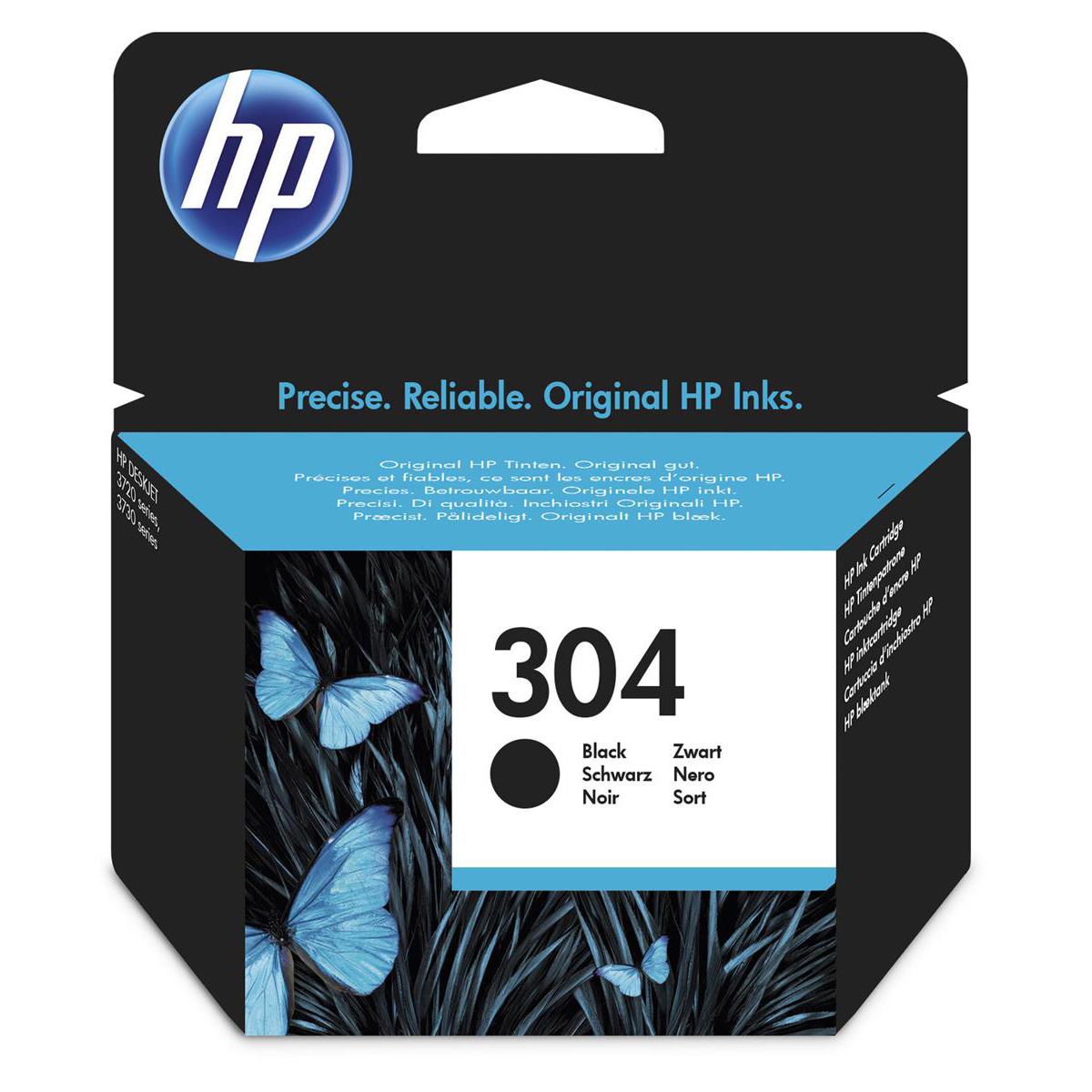 HP 304 (Yield: 120 Pages) Black Ink Cartridge