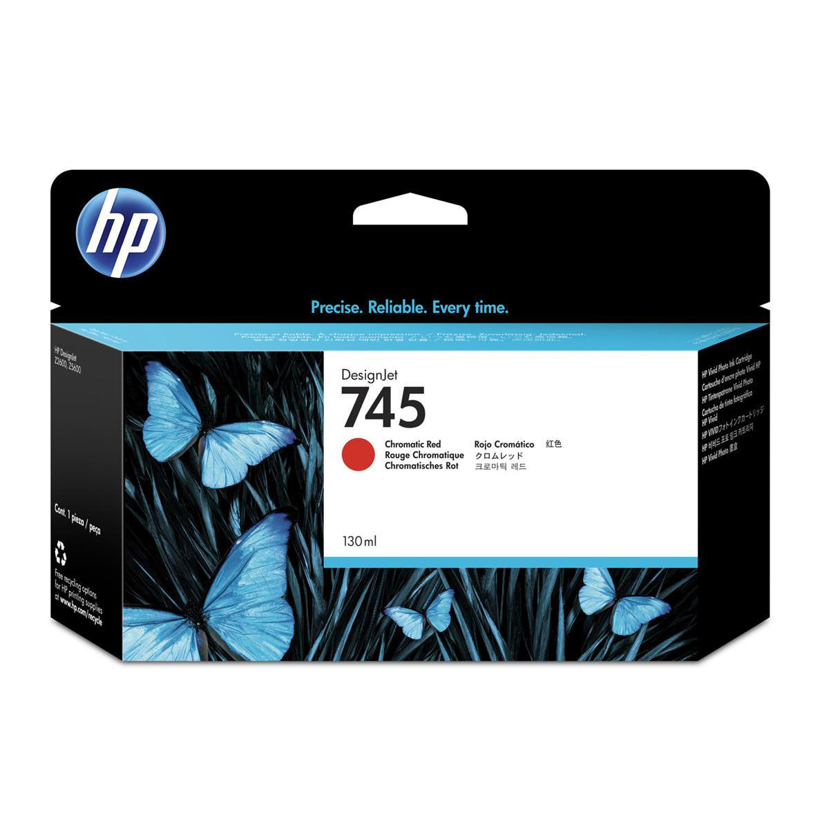 HP 745 130ml DesignJet Chromatic Red Ink Cartridge F9K00A *3 to 5 Day Leadtime*