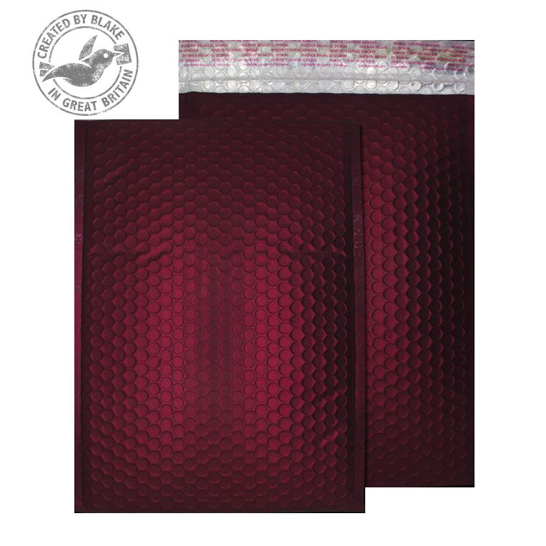 Purely Packaging Bubble Envelope P&S C4 Matt Metallic Wine Ref MTWR324 [Pk 100] 10 Day Leadtime