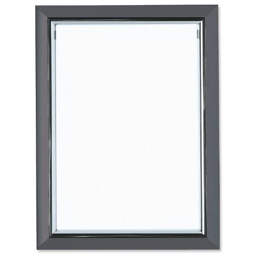 5 Star Facilities Snap De Luxe Certificate Frame Holds Standard A4 Certificates 260x20x347mm Smoke