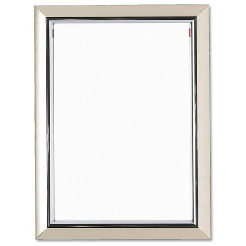 Certificate / Photo Frames 5 Star Facilities Snap De Luxe Certificate Frame Holds Standard A4 Certificates W210xD25xH297mm Silver