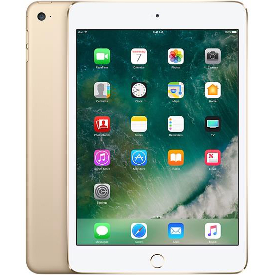 Apple iPad iOS 10 HD WiFi 4G 128GB Touch ID 10-hour Battery Gold MPGW2B/A