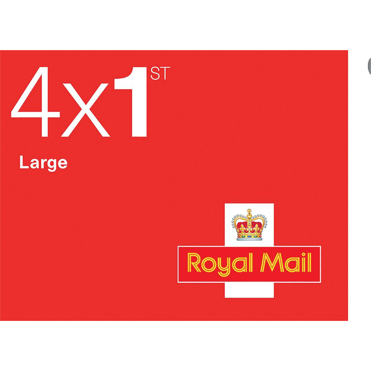 Royal Mail First Class Large Letter Stamps 25 x Book of 4