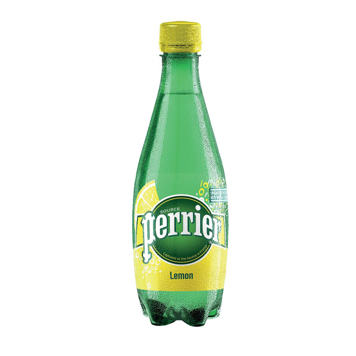 Perrier Sparkling Mineral Water Lemon Bottle Plastic 500ml Ref 12323020 [Pack 24]