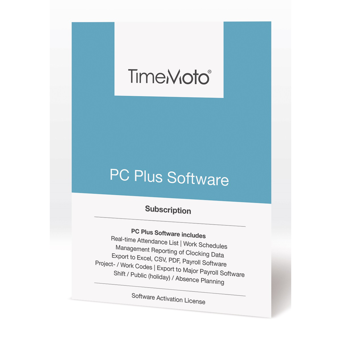 TimeMoto by Safescan TM PC Software Plus for Time & Attendance System Unlimited Users Ref 139-0602