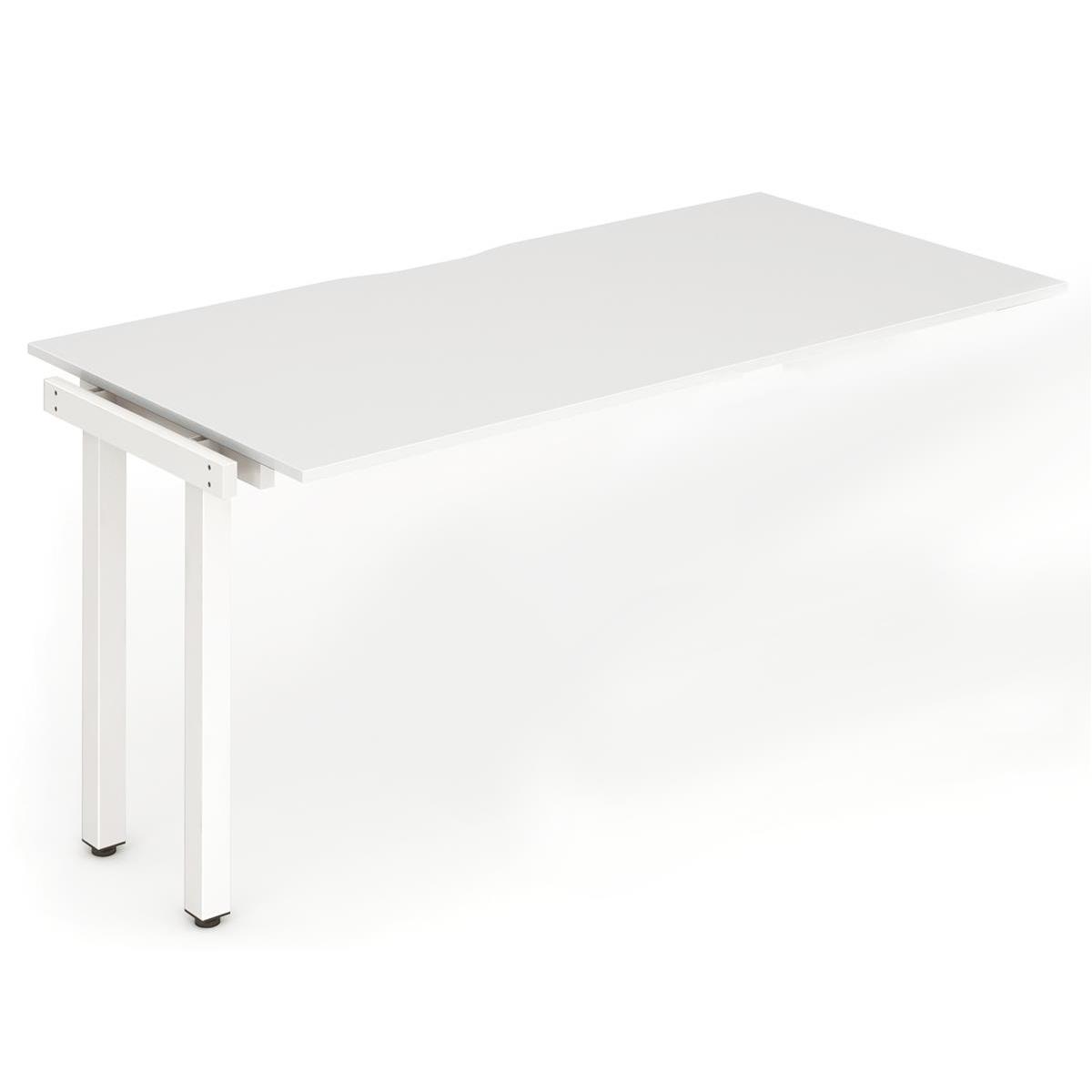Trexus Bench Desk Single Extension White Leg 1200x800mm White Ref BE320