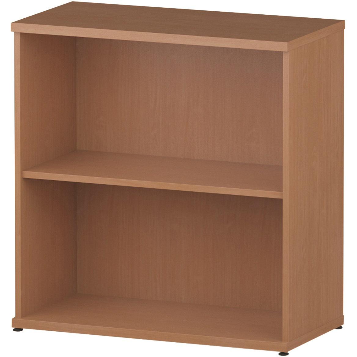 Trexus Office Low Bookcase 800x400x800mm 1 Shelf Beech Ref I000049