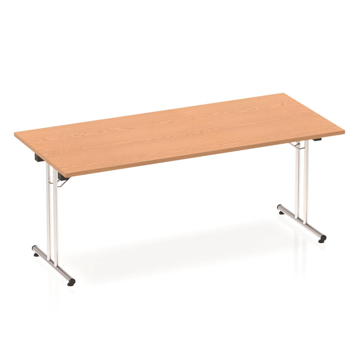 Sonix Rectangular Chrome Leg Folding Meeting Table 1800x800mm Oak Ref I000798