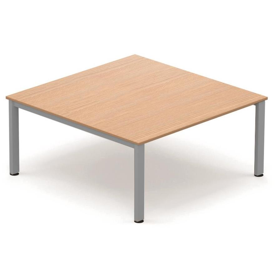 Sonix Meeting Table Silver Legs 1600x1600mm Beech Ref fb1616mtb