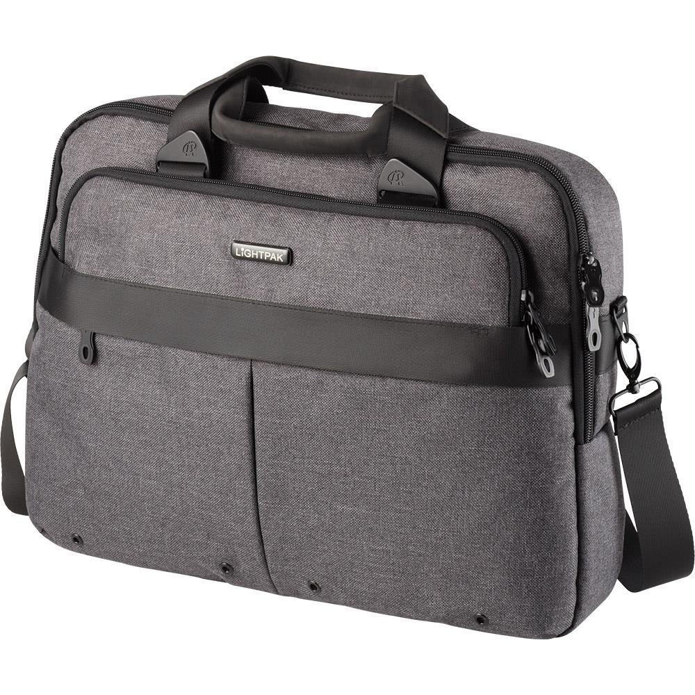 Bags & Cases Lightpak Wookie Laptop Bag Polyester Capacity 17in Grey Ref 46166