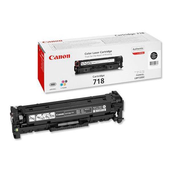 Canon 718BK Toner Cartridge Page Life 3400pp Black Ref 2662B005 [Pack 2]