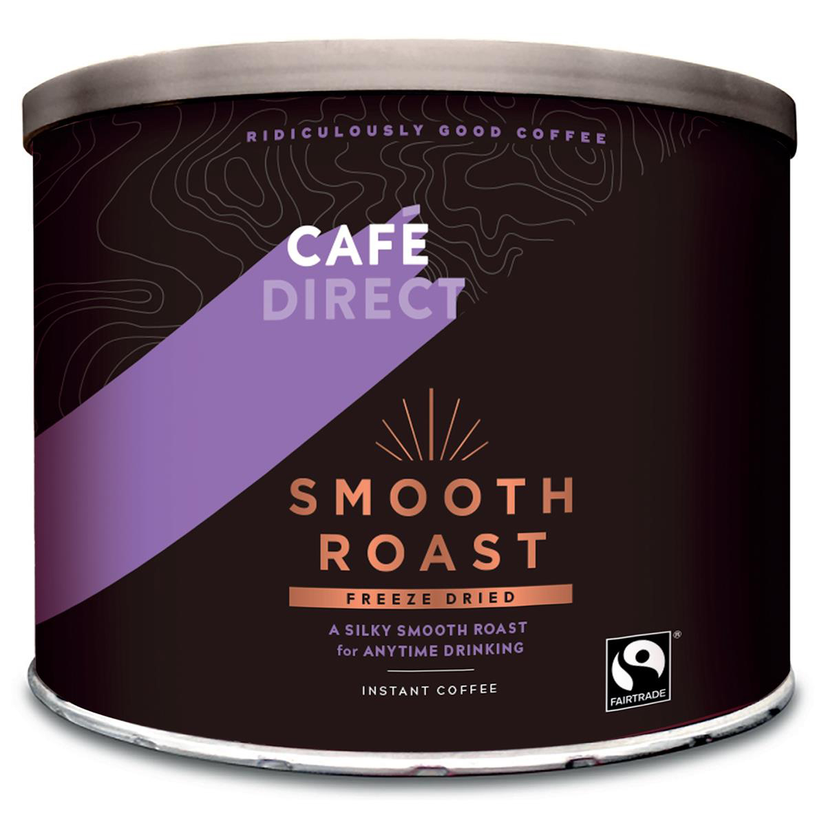 Coffee Cafe Direct Smooth Roast Freeze Dried Instant Coffee Tin 500g Ref FCF0003