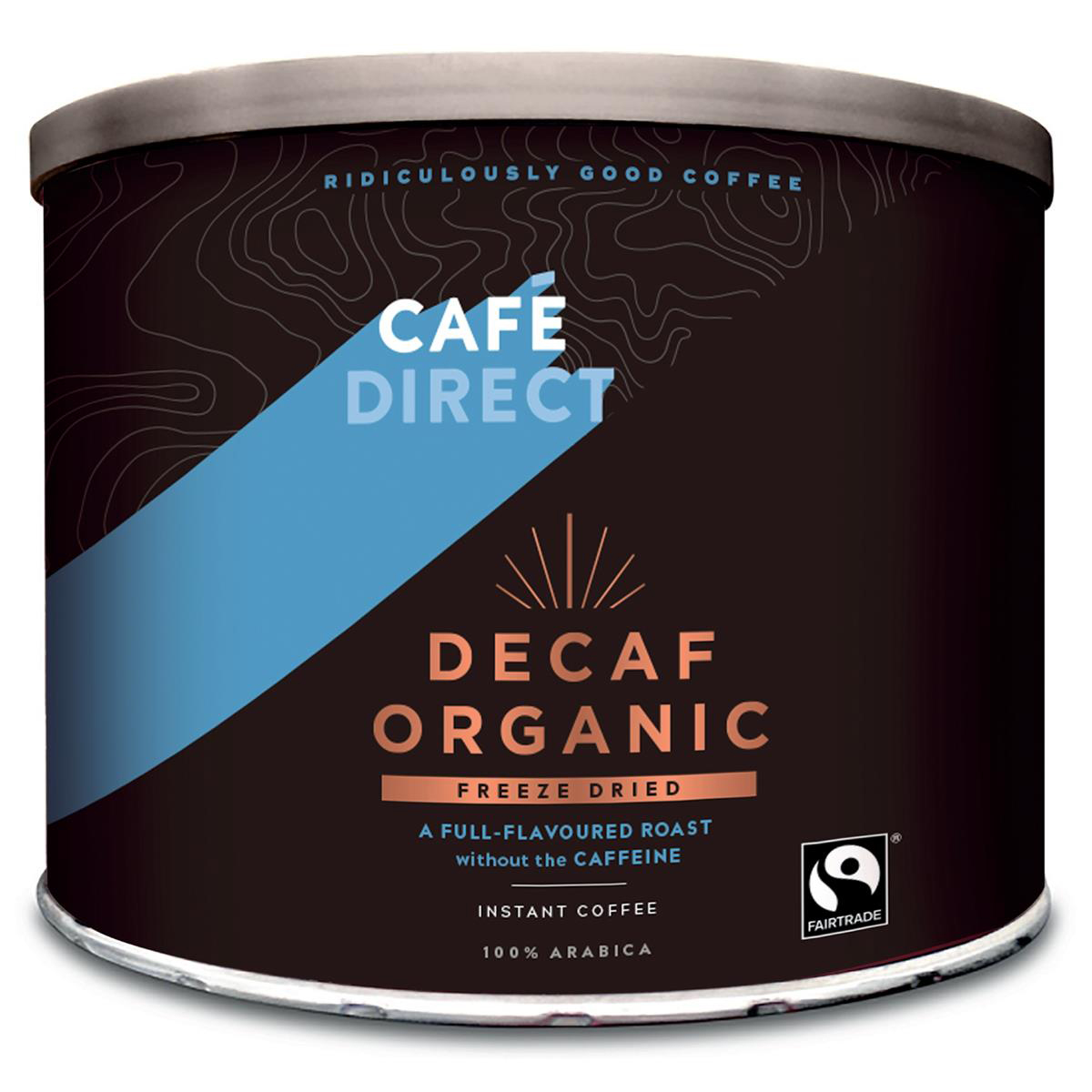 Cafe Direct Decaf Organic Freeze Dried Instant Coffee Tin 500g Ref FCF1002