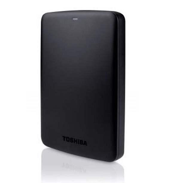 Toshiba Canvio Basics Hard Drive USB 3.0 and 2.0 Compatible 1TB Black Ref HDTB310EK3AA