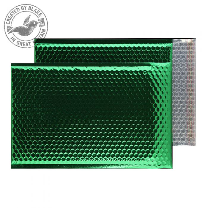 Purely Packaging Bubble Envelope P&S C3 Metallic EmGreen Ref MBGRE450 Pk 50 *10 Day Leadtime*