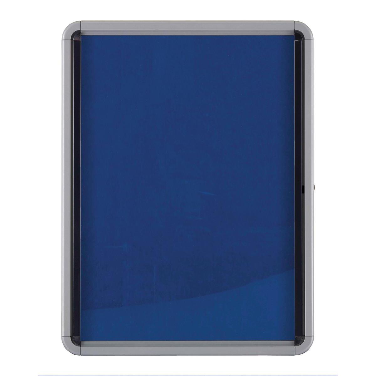 Nobo Noticeboard for Interior Glazed Case Lockable Fabric 9xA4 W792xD77xH1040mm Ref 1902556