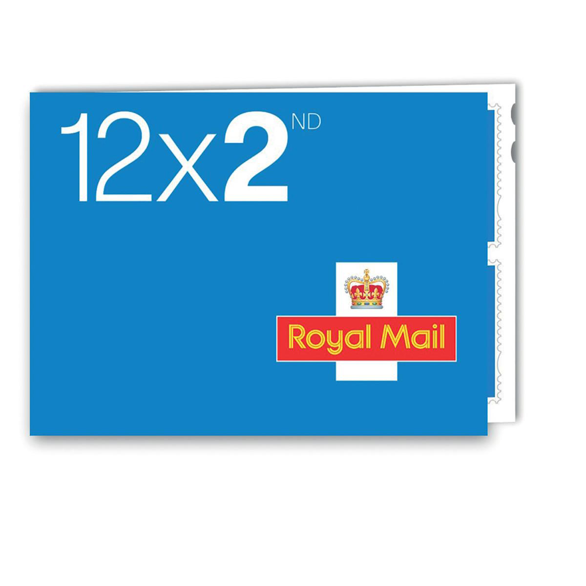 Postage stamp Royal Mail Second Class Stamps 50 x Book of 12
